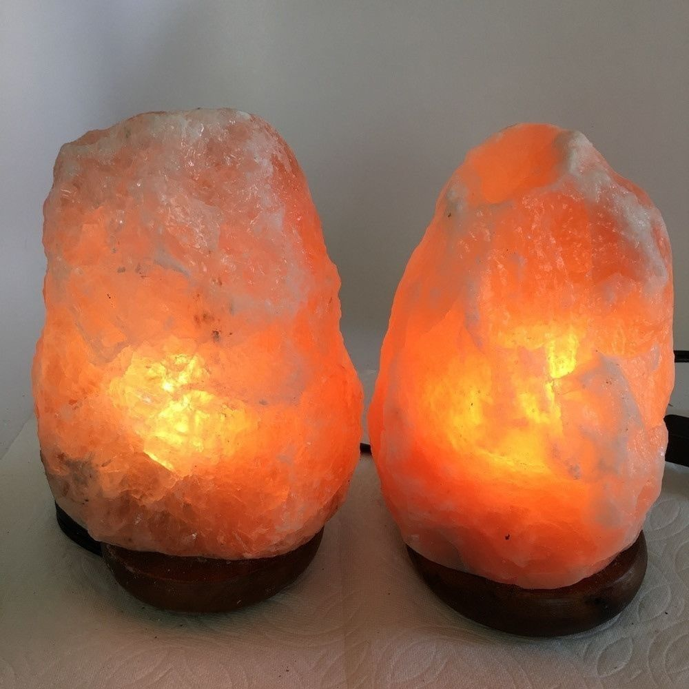 "2x Himalaya Natural Handcraft Rough Raw Crystal Salt Lamp,7.25""-7.75""Tall,XL187"