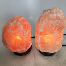 "2x Himalaya Natural Handcraft Rough Raw Crystal Salt Lamp, 6.5""-8"" Tall,... - €22,24 EUR"