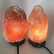 "2x Himalaya Natural Handcraft Rough Raw Crystal Salt Lamp, 8.25""-8.5"" Ta... - €23,72 EUR"