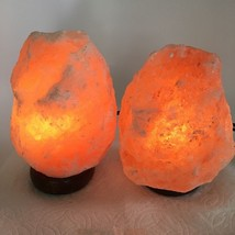 "2x Himalaya Natural Handcraft Rough Raw Crystal Salt Lamp,7.25""-7.75""Tal... - €22,24 EUR"