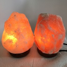 "2x Himalaya Natural Handcraft Rough Raw Crystal Salt Lamp,7.25""-7.25""Tal... - $24.00"