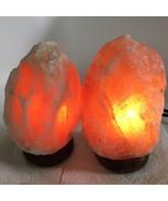 """2x Himalaya Natural Handcraft Rough Raw Crystal Salt Lamp,7""""-7.25""""Tall,X... - $24.00"""