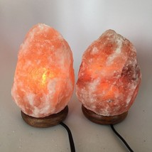 "2x Himalaya Natural Handcraft Rough Raw Crystal Salt Lamp, 7.5""-8""Tall, ... - $25.60"