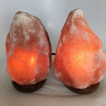 "2x Himalaya Natural Handcraft Rough Raw Crystal Salt Lamp, 7.75""-8"" Tall... - $24.00"