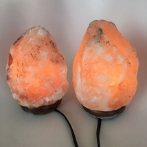 "2x Himalaya Natural Handcraft Rough Raw Crystal Salt Lamp, 7.5""-8"" Tall,... - $25.60"