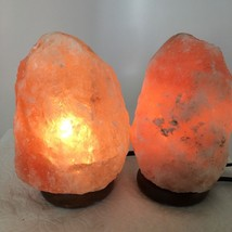"2x Himalaya Natural Handcraft Rough Raw Crystal Salt Lamp, 7""-7.25"" Tall... - $24.00"
