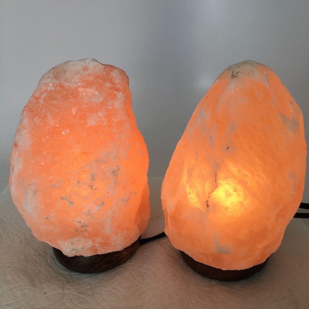 """2x Himalaya Natural Handcraft Rough Raw Crystal Salt Lamp, 7.5""""-7.5"""" Tall,XL119"""