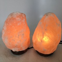 "2x Himalaya Natural Handcraft Rough Raw Crystal Salt Lamp, 7.5""-7.5"" Tal... - $24.00"