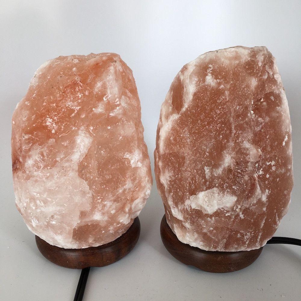 """2x Himalaya Natural Handcraft Rough Raw Crystal Salt Lamp,7""""-7.5""""Tall, HL63"""