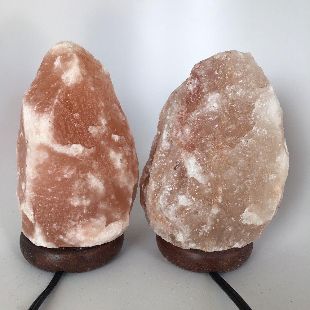 """2x Himalaya Natural Handcraft Rough Raw Crystal Salt Lamp,8""""-8.25""""Tall, HL74"""