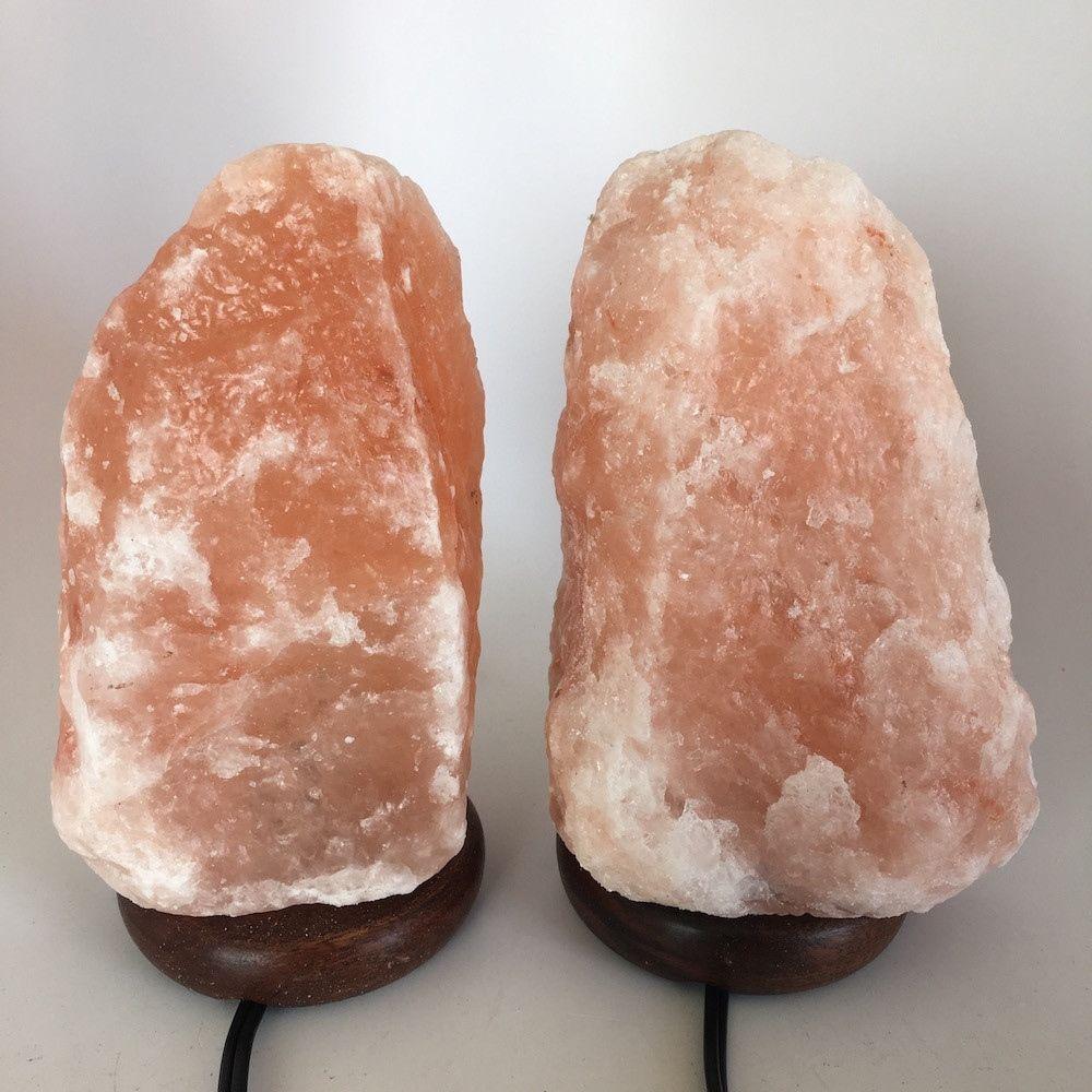 """2x Himalaya Natural Handcraft Rough Raw Crystal Salt Lamp, 8.25""""-8.5""""Tall, HL35"""
