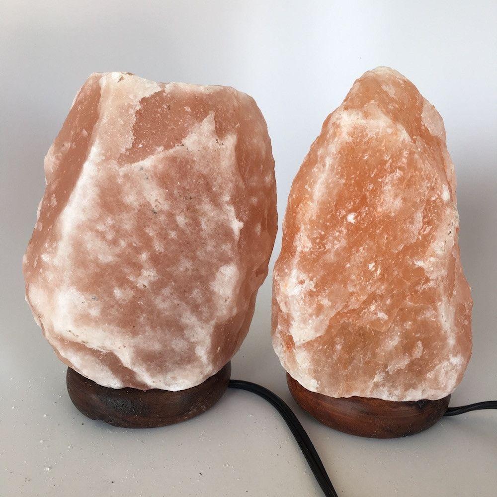 """2x Himalaya Natural Handcraft Rough Raw Crystal Salt Lamp,8""""-8.25""""Tall, HL29"""