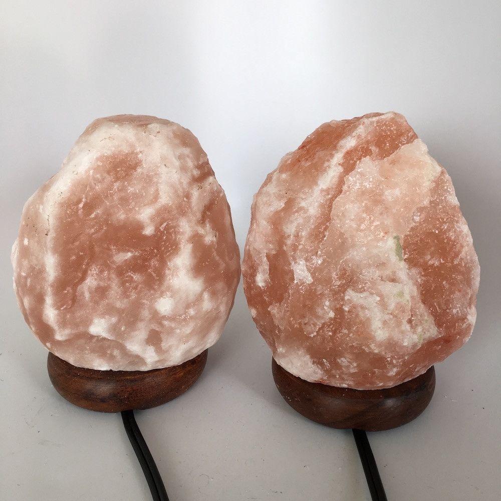 """2x Himalaya Natural Handcraft Rough Raw Crystal Salt Lamp,6.5""""-6.75""""Tall, HL69"""