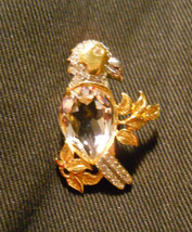 Swarovski Parrot Pin Gold Tone - $49.58