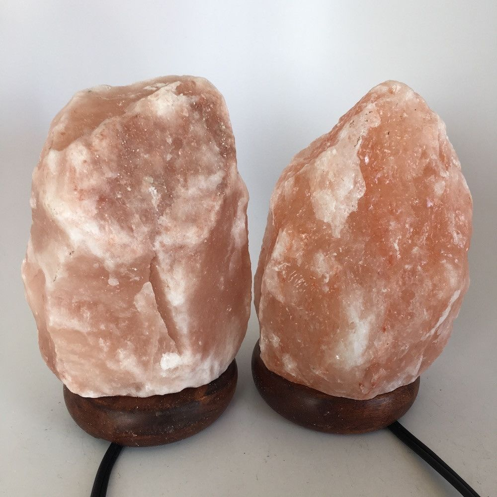 "2x Himalaya Natural Handcraft Rough Raw Crystal Salt Lamp,7""-7.5""Tall, HL48"