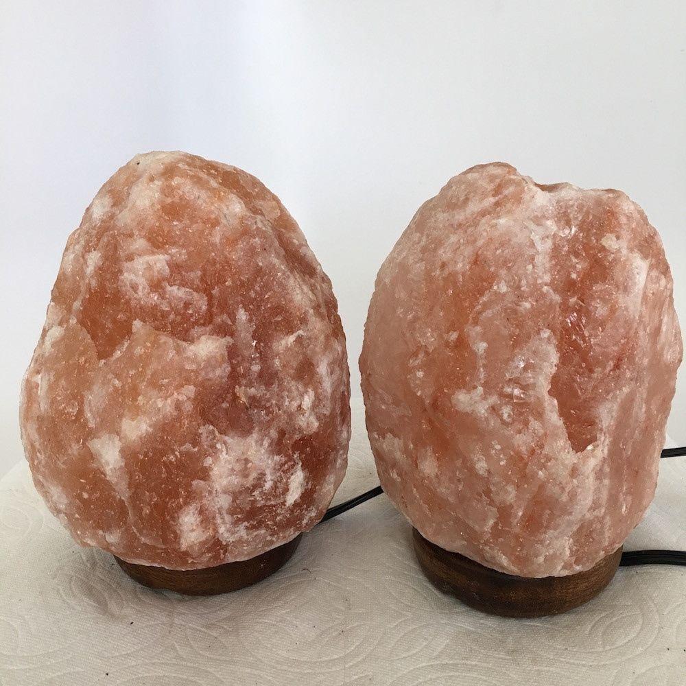 """2x Himalaya Natural Handcraft Rough Raw Crystal Salt Lamp, 6.75""""-7"""" Tall,XL105"""