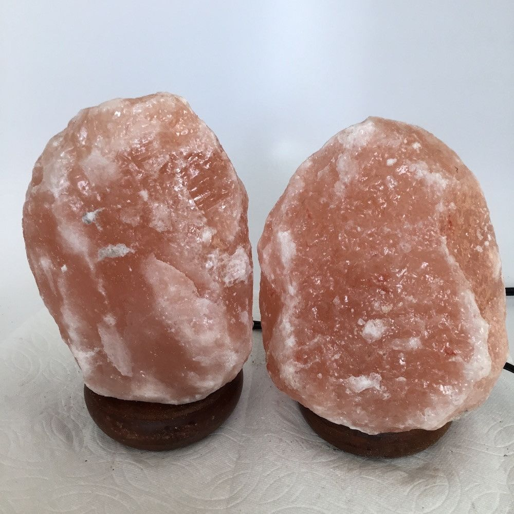 "2x Himalaya Natural Handcraft Rough Raw Crystal Salt Lamp, 7""-7.75"" Tall,XL140"