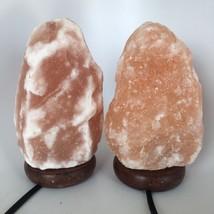 """2x Himalaya Natural Handcraft Rough Raw Crystal Salt Lamp,8.5""""-8.75""""Tall, HL79 image 2"""
