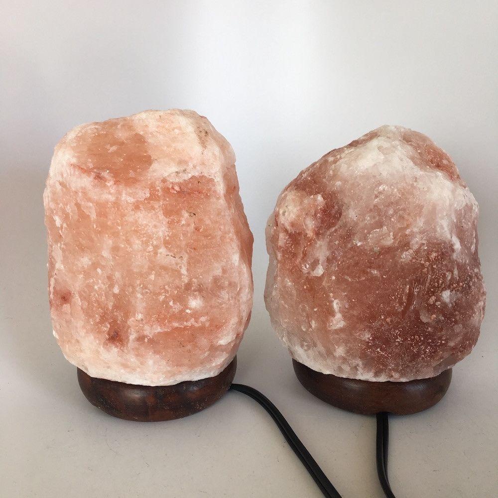 """2x Himalaya Natural Handcraft Rough Raw Crystal Salt Lamp, 6.5""""-7""""Tall, HL36"""