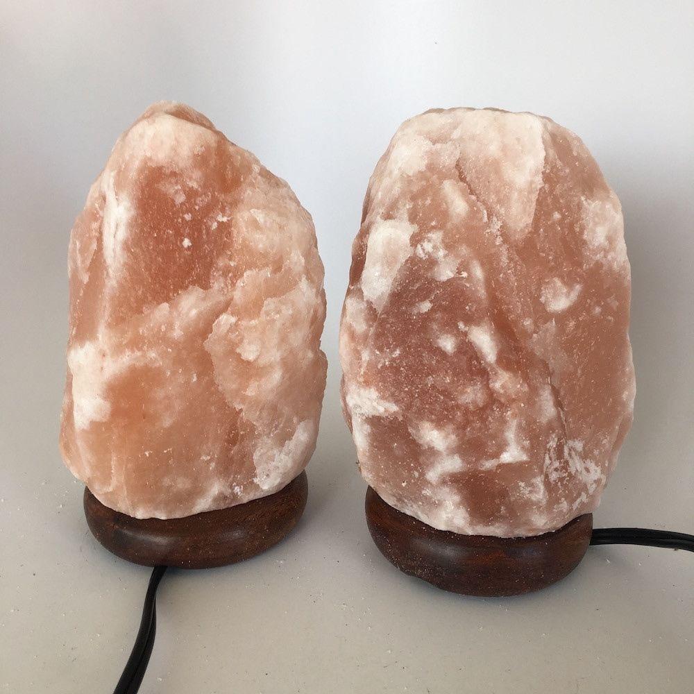 """2x Himalaya Natural Handcraft Rough Raw Crystal Salt Lamp, 7.25""""-7.5""""Tall, HL20"""