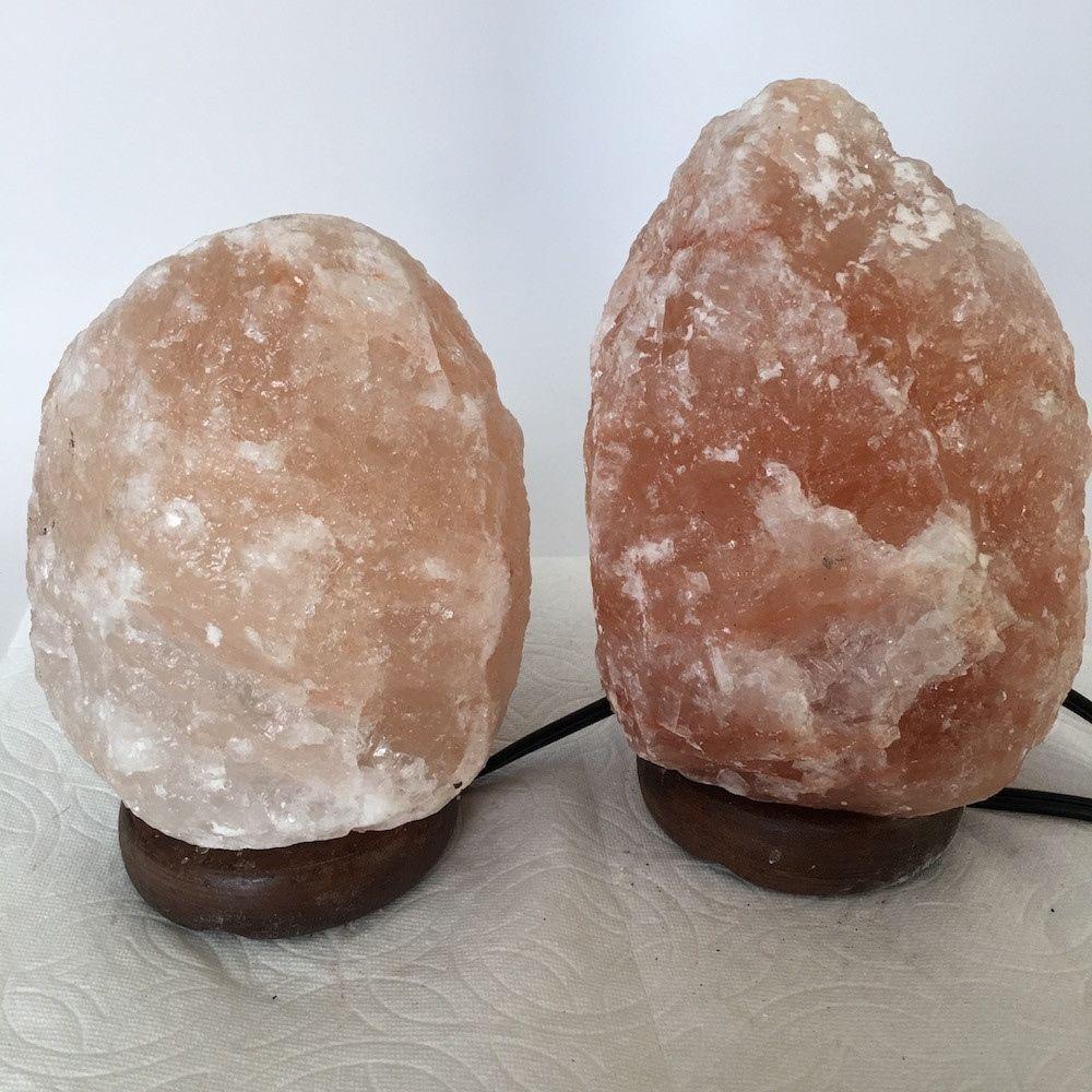 """2x Himalaya Natural Handcraft Rough Raw Crystal Salt Lamp, 6.5""""-7.5"""" Tall,XL113"""