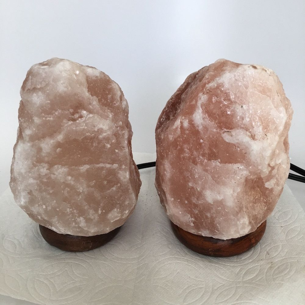 "2x Himalaya Natural Handcraft Rough Raw Crystal Salt Lamp, 7""-7.25"" Tall,XL147"
