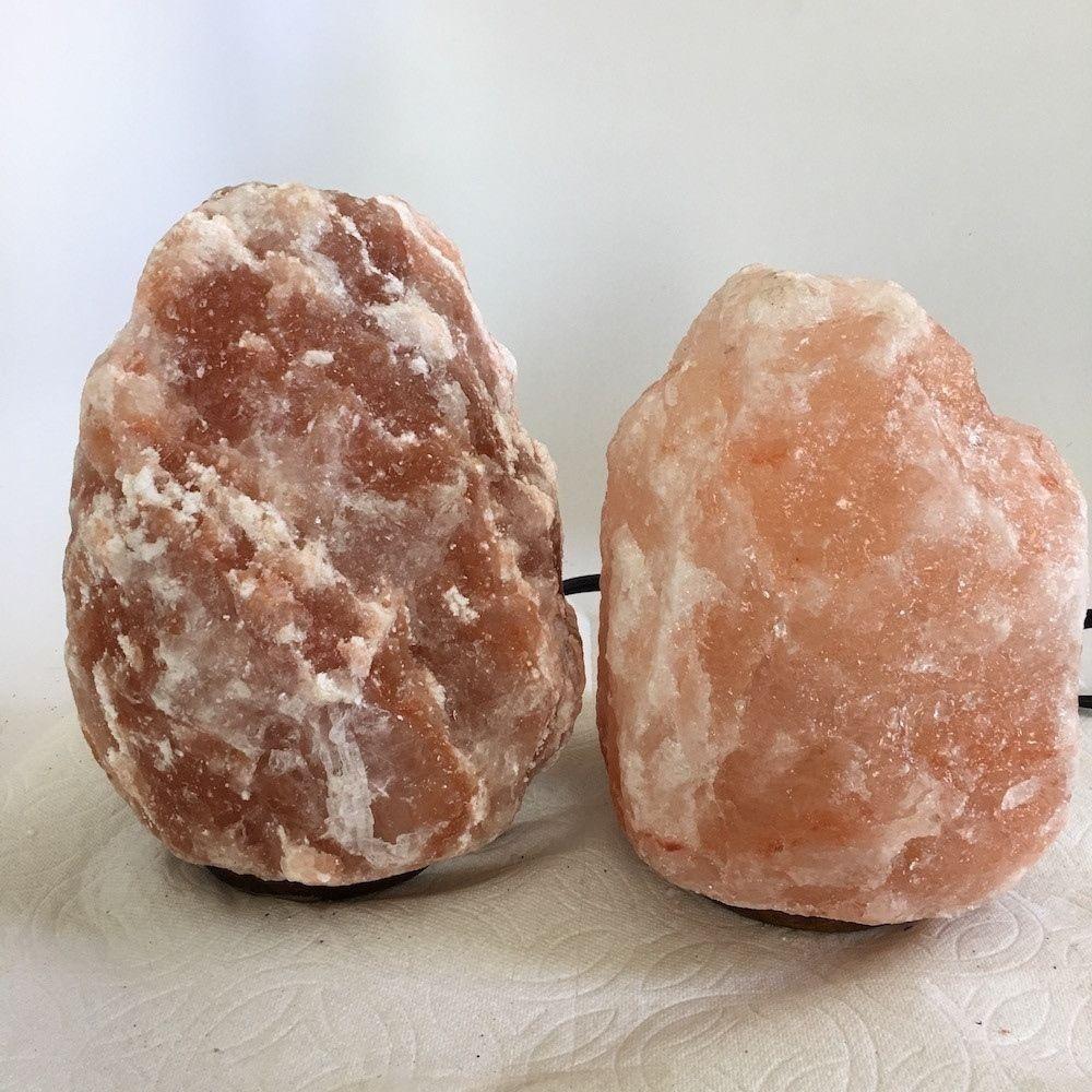 """2x Himalaya Natural Handcraft Rough Raw Crystal Salt Lamp, 6.75""""-7.5"""" Tall,XL181"""