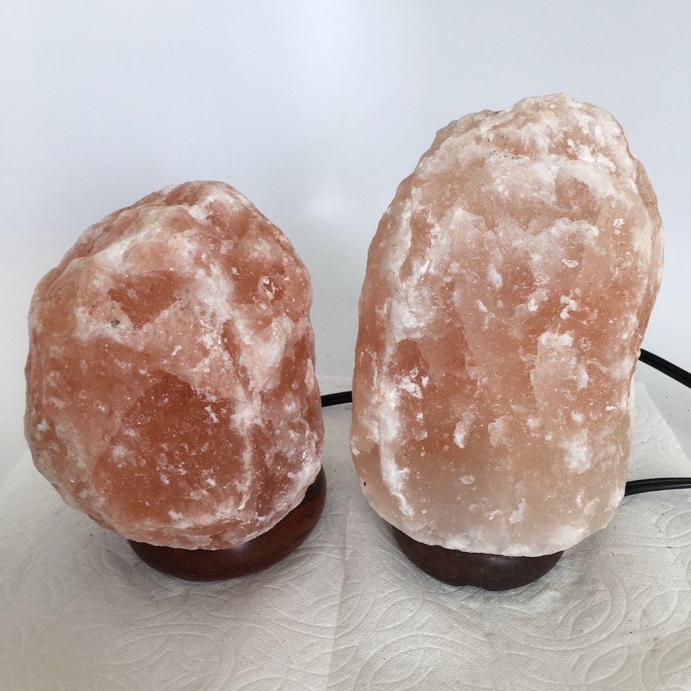 "2x Himalaya Natural Handcraft Rough Raw Crystal Salt Lamp, 6.5""-8"" Tall,XL149"