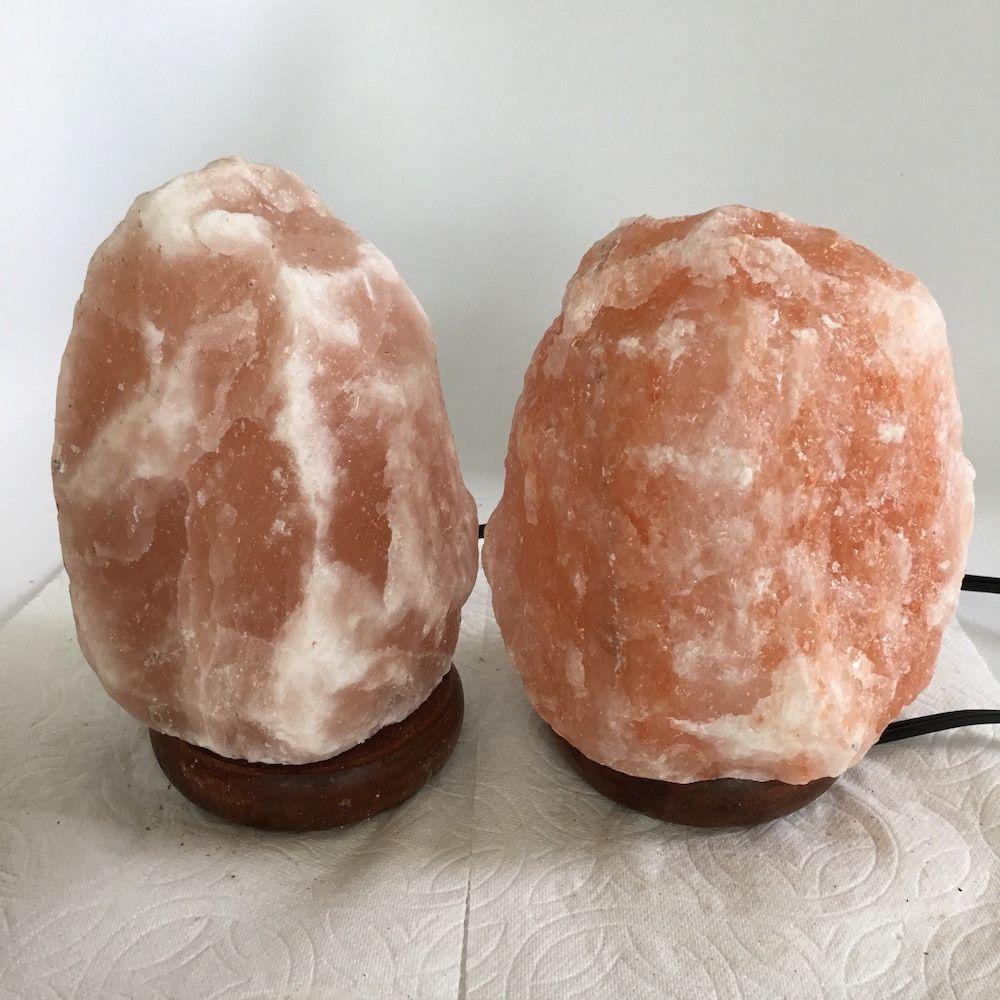 """2x Himalaya Natural Handcraft Rough Raw Crystal Salt Lamp,6.75""""-7.25""""Tall,XL242"""