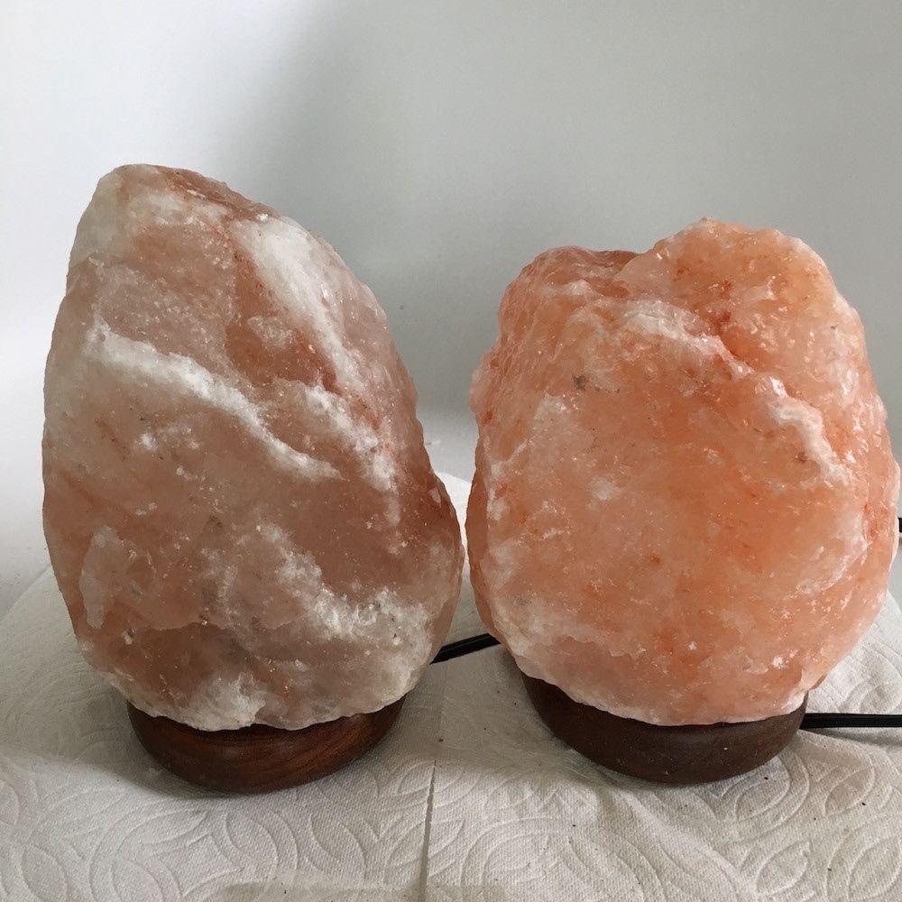 """2x Himalaya Natural Handcraft Rough Raw Crystal Salt Lamp,7""""-7.5""""Tall,XL258 image 2"""
