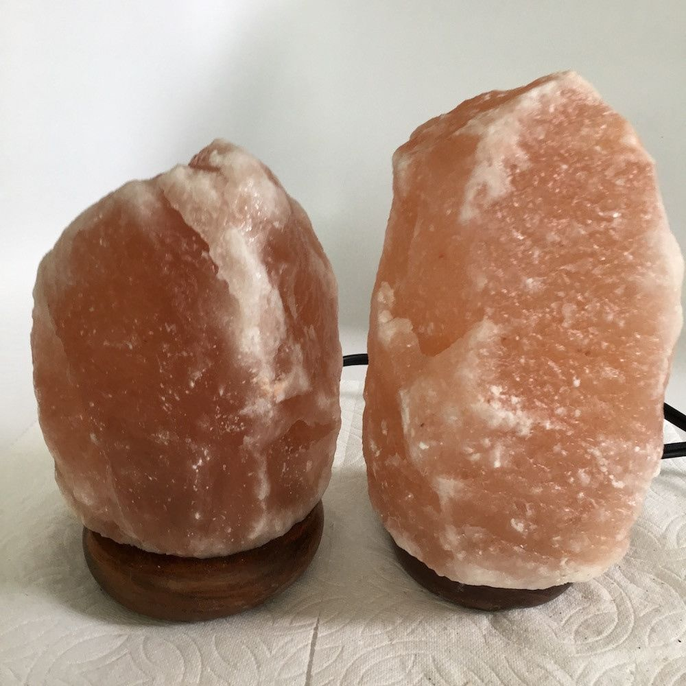 "2x Himalaya Natural Handcraft Rough Raw Crystal Salt Lamp,6.75""-7.75""Tall,XL212"