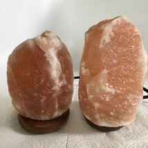 "2x Himalaya Natural Handcraft Rough Raw Crystal Salt Lamp,6.75""-7.75""Tall,XL212 image 2"