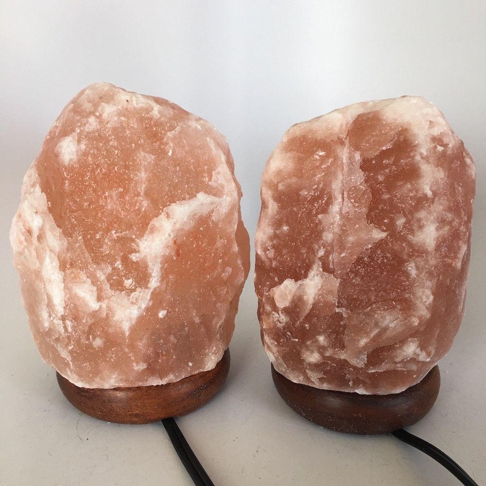 "2x Himalaya Natural Handcraft Rough Raw Crystal Salt Lamp,About 7""Tall, HL55"