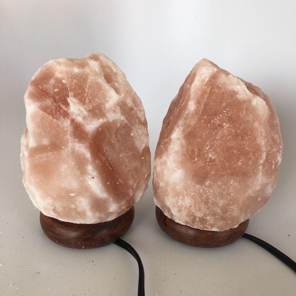 """2x Himalaya Natural Handcraft Rough Raw Crystal Salt Lamp,7""""-7.25""""Tall, HL26"""