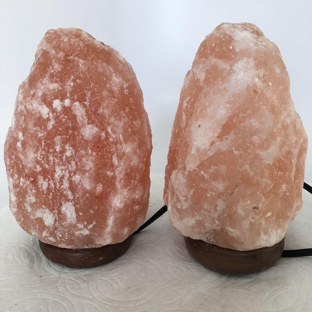 """2x Himalaya Natural Handcraft Rough Raw Crystal Salt Lamp, 7.25""""-7.5"""" Tall,XL103"""