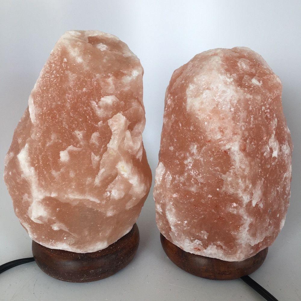 """2x Himalaya Natural Handcraft Rough Raw Crystal Salt Lamp,7.5""""-7.75""""Tall, HL78"""