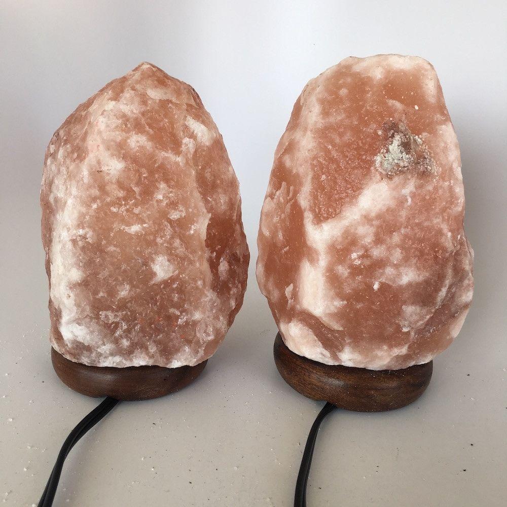 """2x Himalaya Natural Handcraft Rough Raw Crystal Salt Lamp,7.75""""-8.25""""Tall, HL30"""