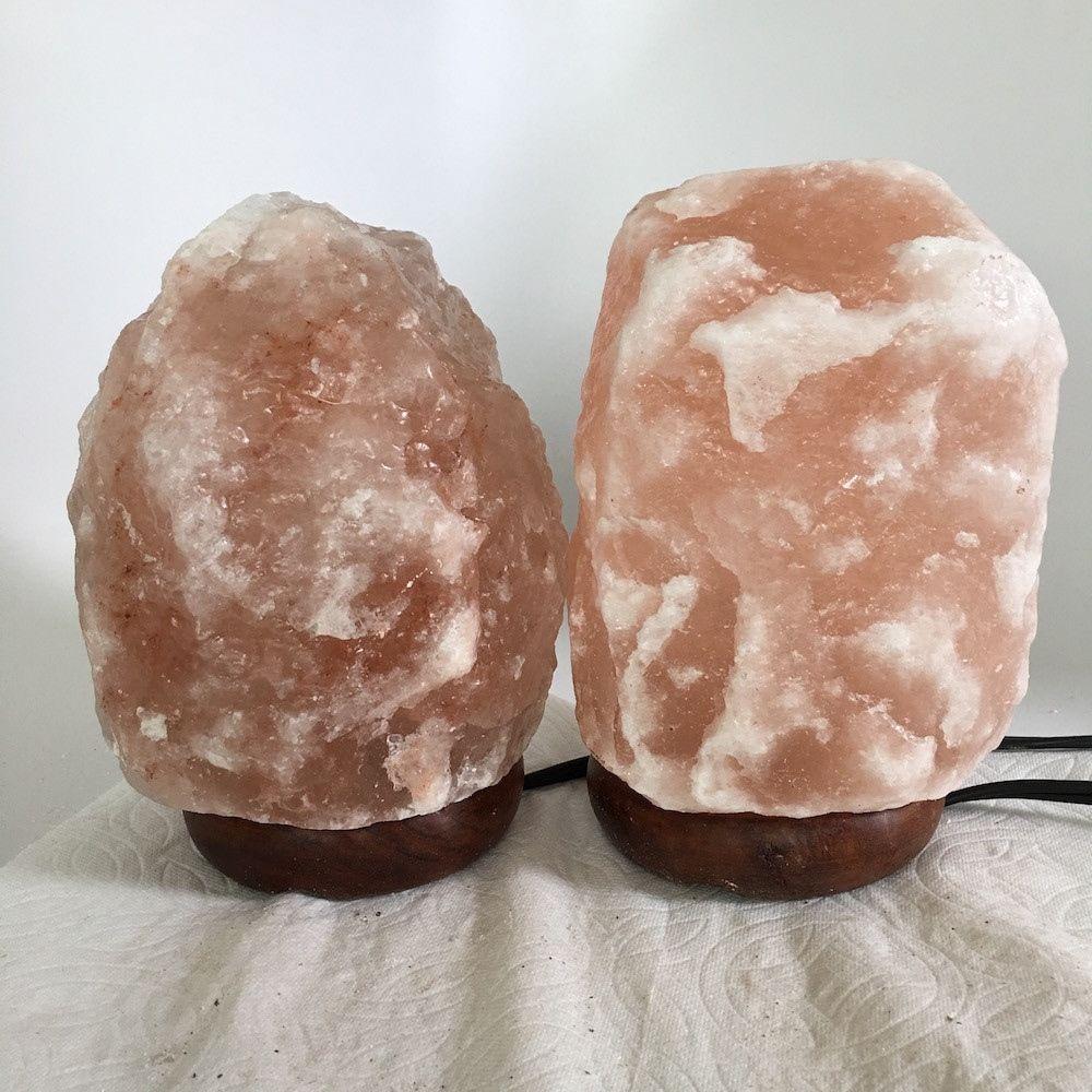 """2x Himalaya Natural Handcraft Rough Raw Crystal Salt Lamp,7""""-7.25""""Tall,XL215"""