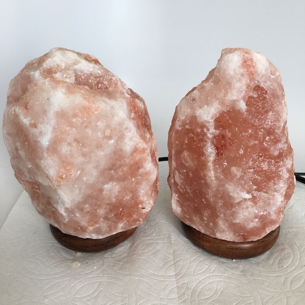 """2x Himalaya Natural Handcraft Rough Raw Crystal Salt Lamp, 7.5""""-7.75"""" Tall,XL157"""