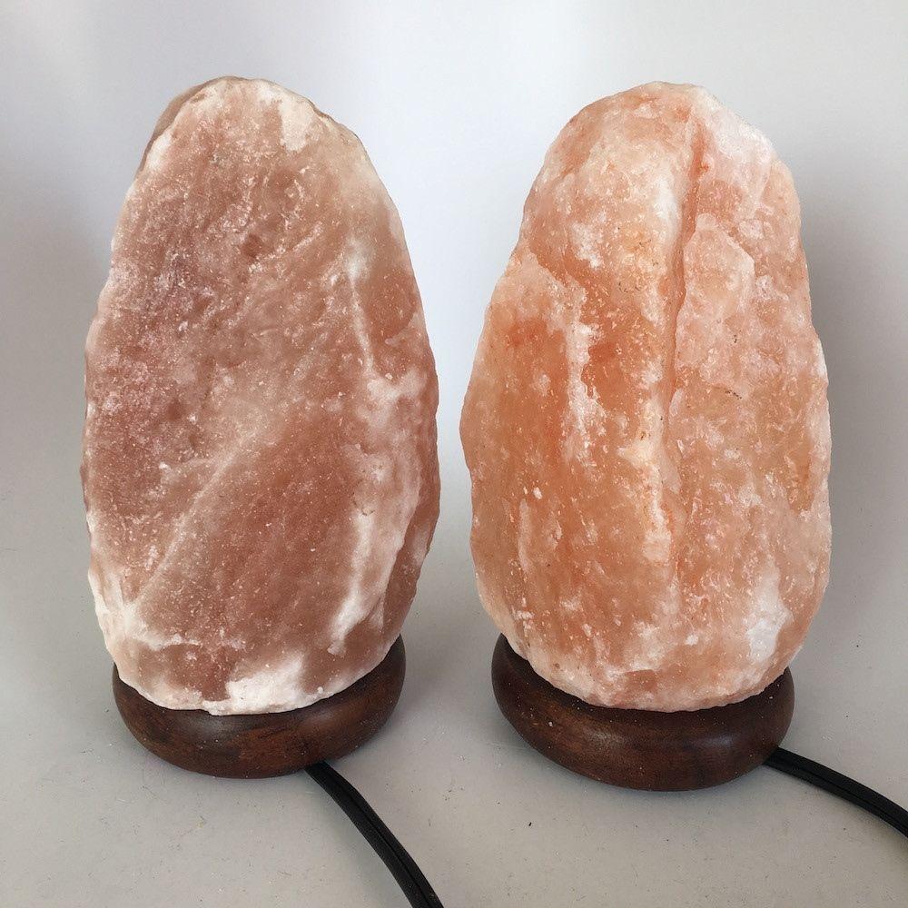 """2x Himalaya Natural Handcraft Rough Raw Crystal Salt Lamp,8.25""""-8.5""""Tall, HL42"""
