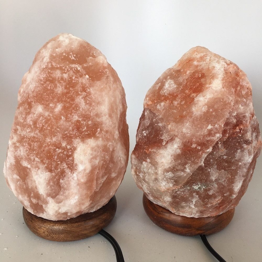 "2x Himalaya Natural Handcraft Rough Raw Crystal Salt Lamp, 7.5""-8""Tall, HL28"