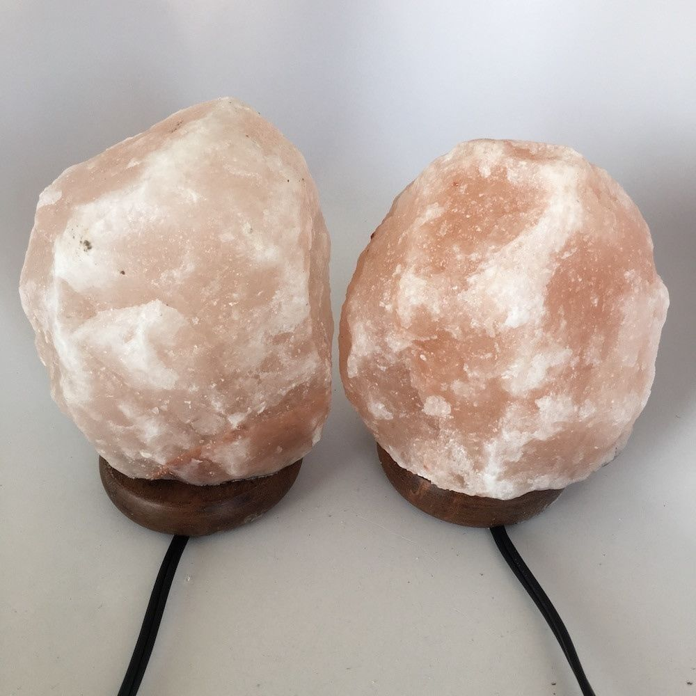 "2x Himalaya Natural Handcraft Rough Raw Crystal Salt Lamp, 7""-7.25"" Tall,HL04 image 2"