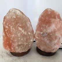 """2x Himalaya Natural Handcraft Rough Raw Crystal Salt Lamp, 7""""-7.25"""" Tall,XL101 image 2"""