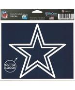 "NFL Dallas Cowboys Star Logo Wincraft Multi-Use Ultra Decal Cling ""5x6""  - $6.95"