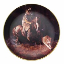 Spirit Of The Timber Mist Hermon Adams Native American Plate CP2569 - $35.98
