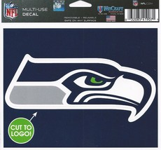 """NFL Seattle Seahawks Logo Wincraft Multi-Use Ultra Decal Cling """"5x6""""  - $6.95"""