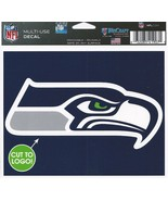 "NFL Seattle Seahawks Logo Wincraft Multi-Use Ultra Decal Cling ""5x6""  - $6.95"