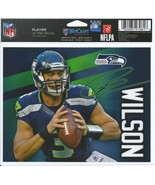NFL Seattle Seahawks Russell Wilson Wincraft Multi-Use Ultra Decal Cling... - $6.95