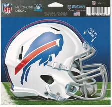 "NFL Buffalo Bills Helmet Wincraft Multi-Use Ultra Decal Cling ""5x6""  - $6.95"