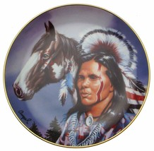 Spirit Of The Warrior Ampel Native American Plate CP2575 - $35.98